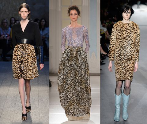 leopard print on the catwalk