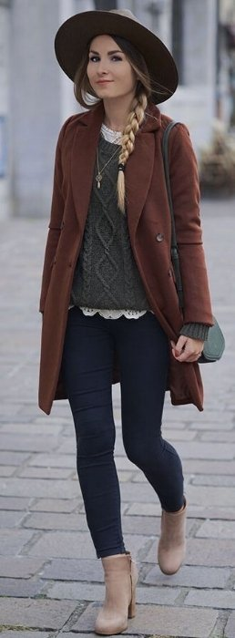 fall cable sweaters outfit inspiration
