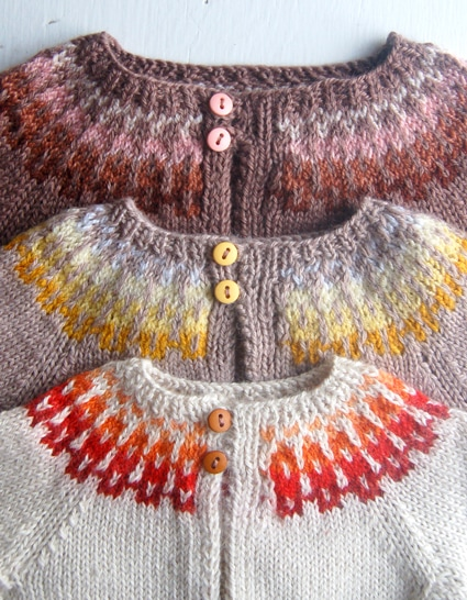 knits for kids fair isle cardigan