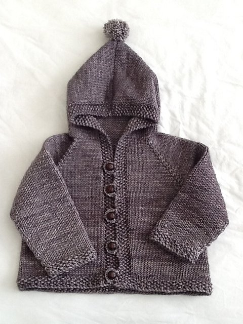 knits for kids baby cardigan with hood