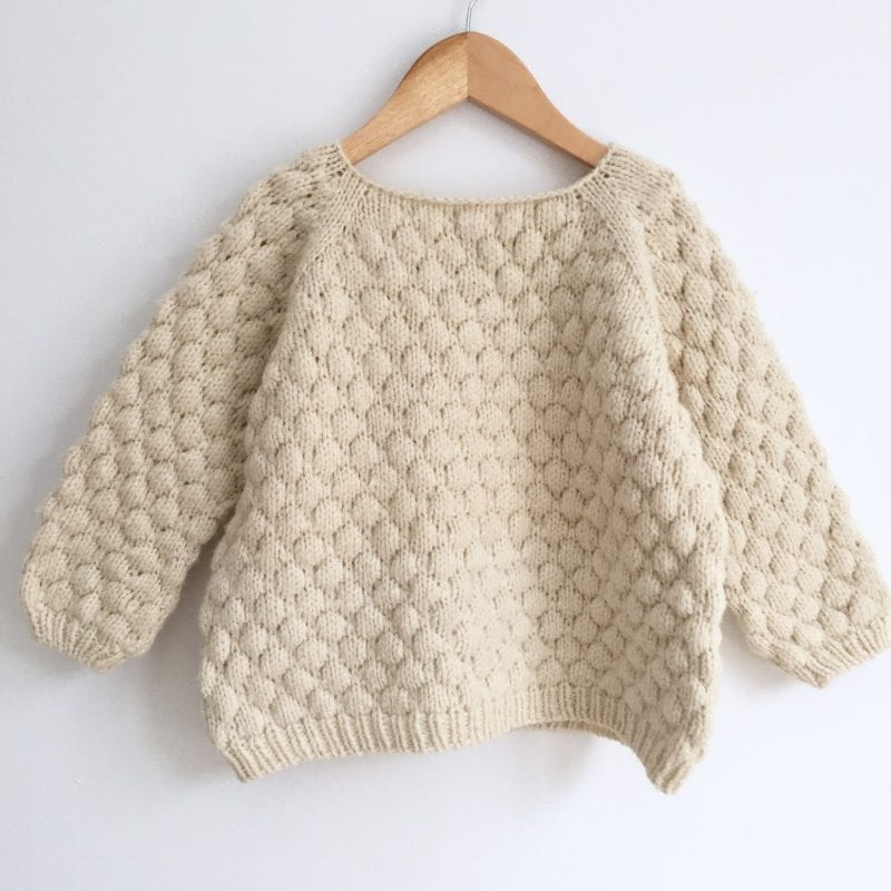 bubble stitch sweater