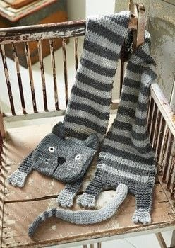 cat scarf knitting pattern