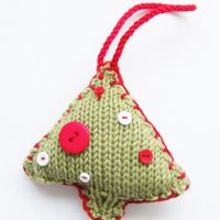 Christmas Tree Decoration Knitting Pattern PDF Download | Handy Little Me