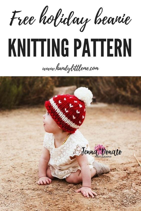 holiday hat knitting pattern