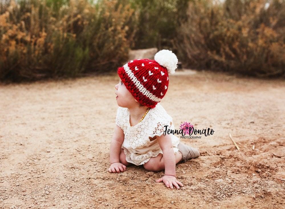 Baby beanie hat pattern