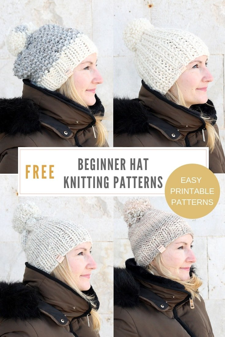 Free knit hat patterns for women