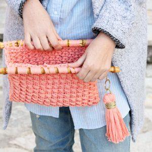 Easy knit clutch bag pattern