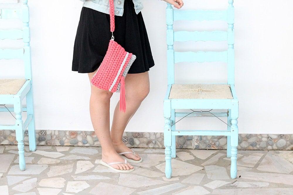 Crochet Clutch Bag Free Pattern Free Knitting Patterns Handy