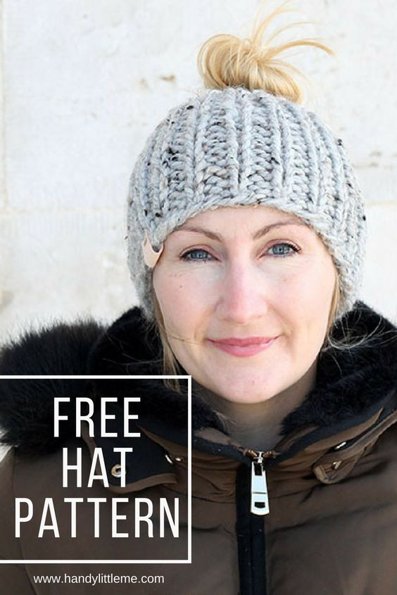 Ponytail Hat Knitting Pattern Free Knitting Patterns Handy Little Me