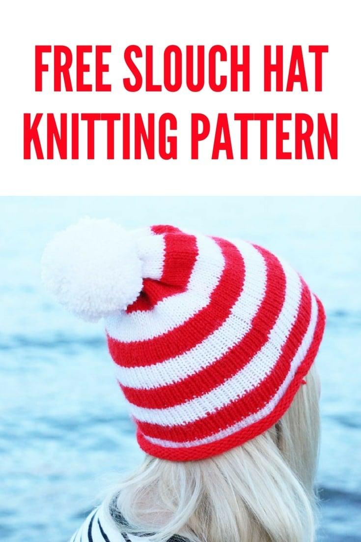 Striped Beanie Hat Knitting Pattern