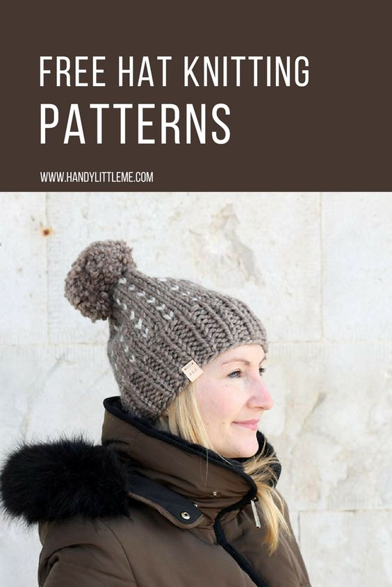 brown knitted hat
