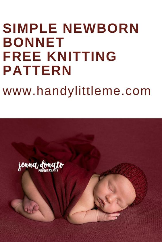 Newborn prop bonnet in burgundy