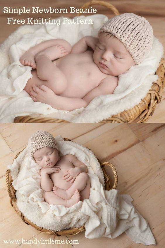 Easy Newborn Hat Pattern Free Knitting Patterns Handy Little Me