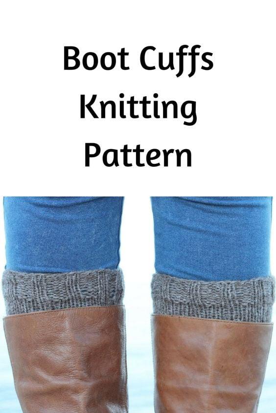 Boot Cuffs Free Knitting Pattern Free Knitting Patterns Handy
