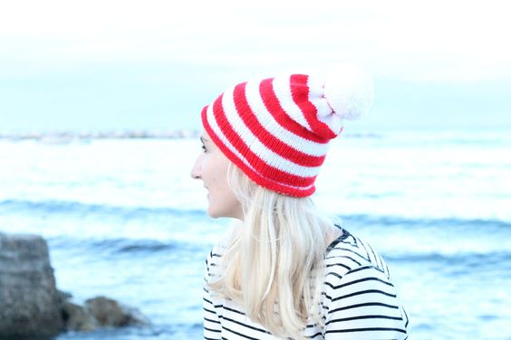 Striped Beanie Free Knitting Pattern