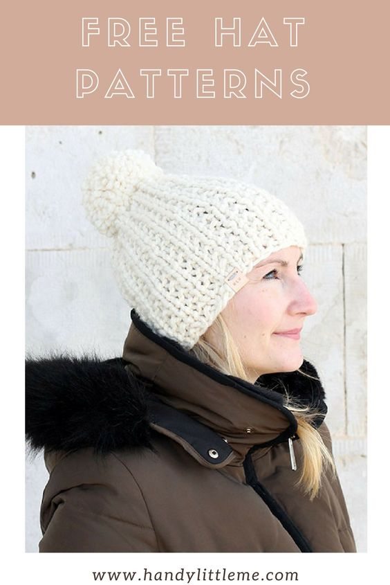 Women's knit hat pattern