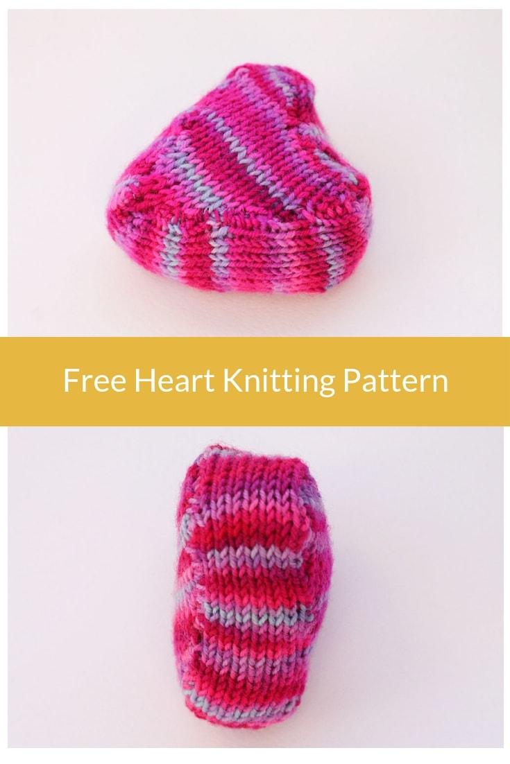 Heart knitting pattern