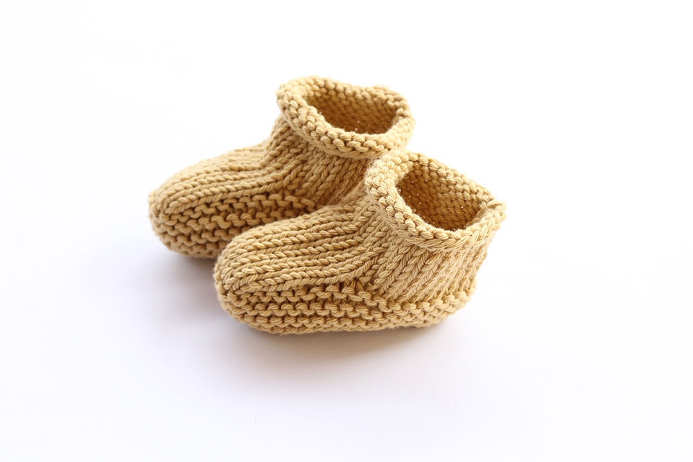 Easy Baby Booties Knitting Pattern Free Knitting Patterns Handy