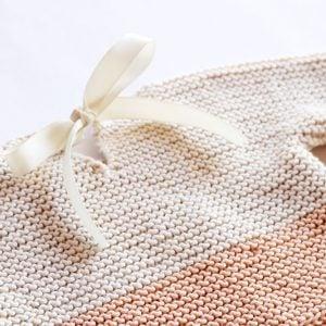 Colour block baby sweater knitting pattern
