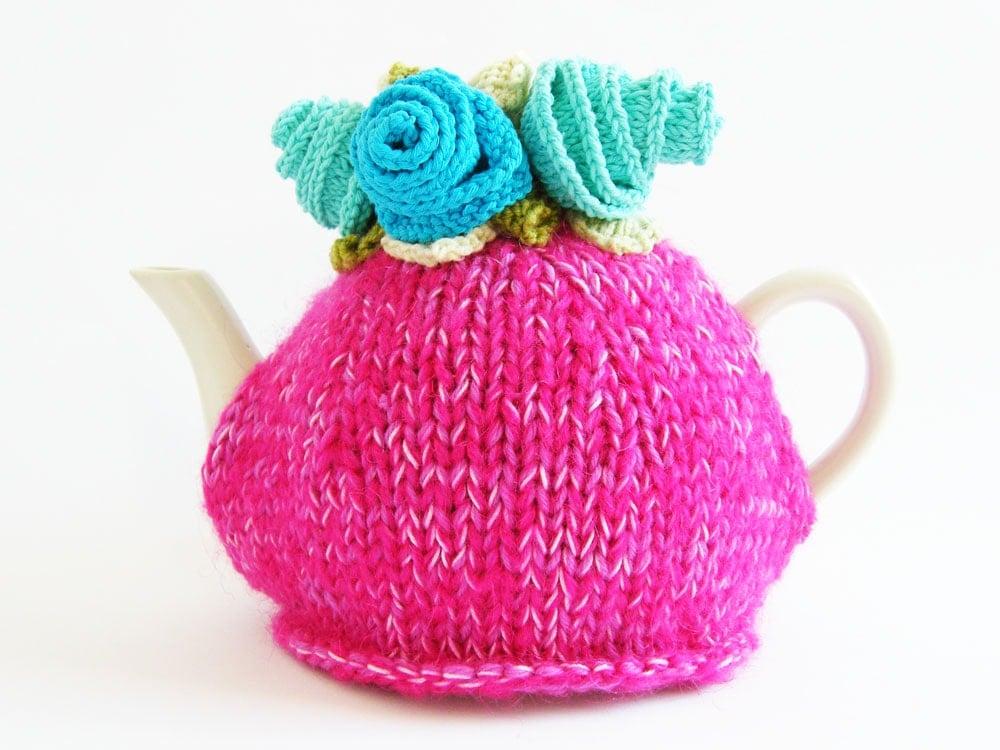Hot pink tea cosy