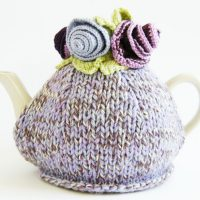 Bright Flower Tea Cosy Knitting Pattern PDF Download | Handy Little Me
