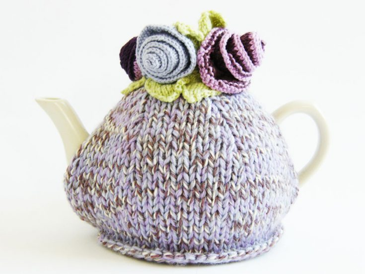 Monet's Garden Tea Cosy Knitting Pattern