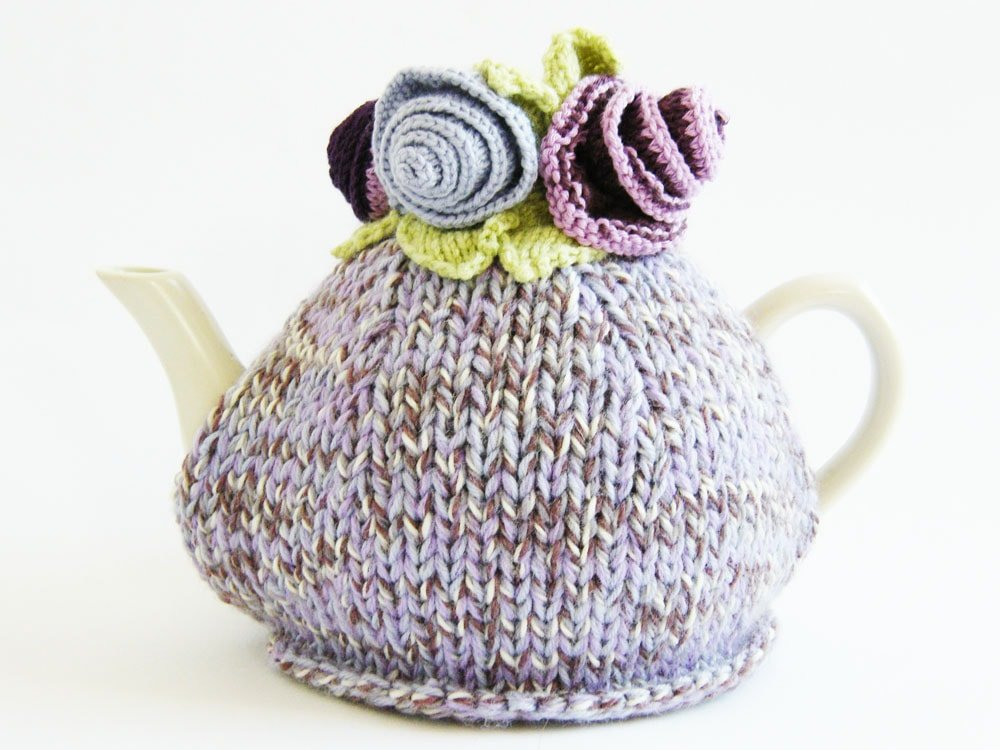 Monets Garden Tea Cosy Knitting Pattern Free Knitting Patterns