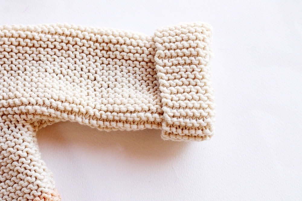 Garter stitch baby sweater