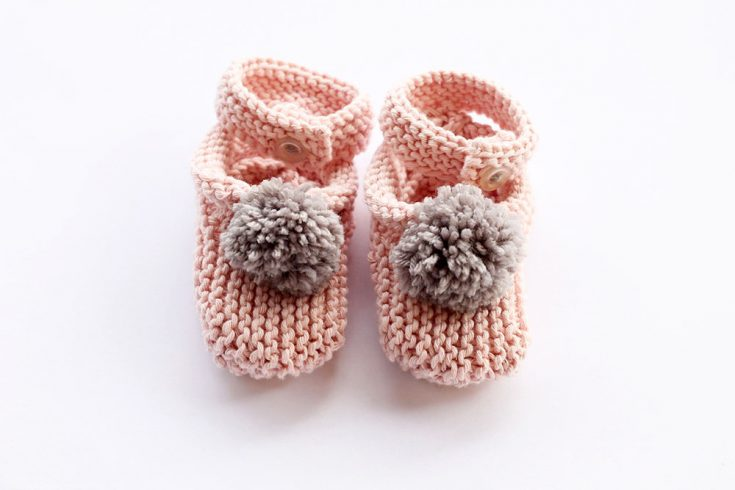 Baby Slippers Knitting Pattern