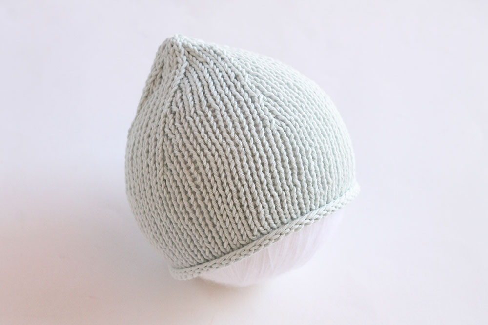 baby hat knit flat pattern
