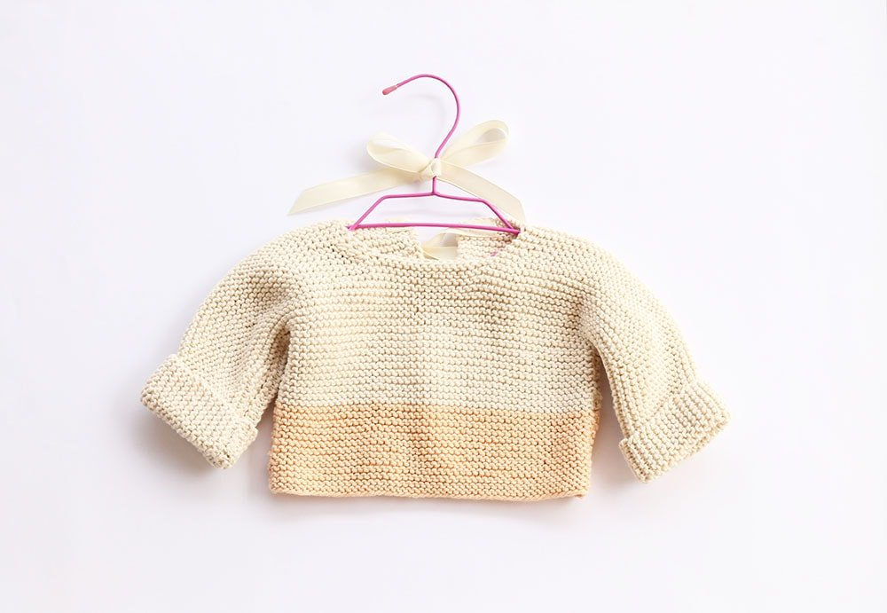 Baby Sweater Knit Pattern | Free Knitting Patterns | Handy Little Me
