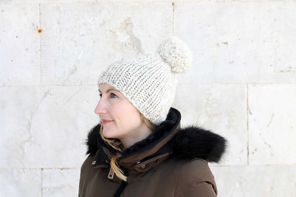 beginner hat free knitting pattern