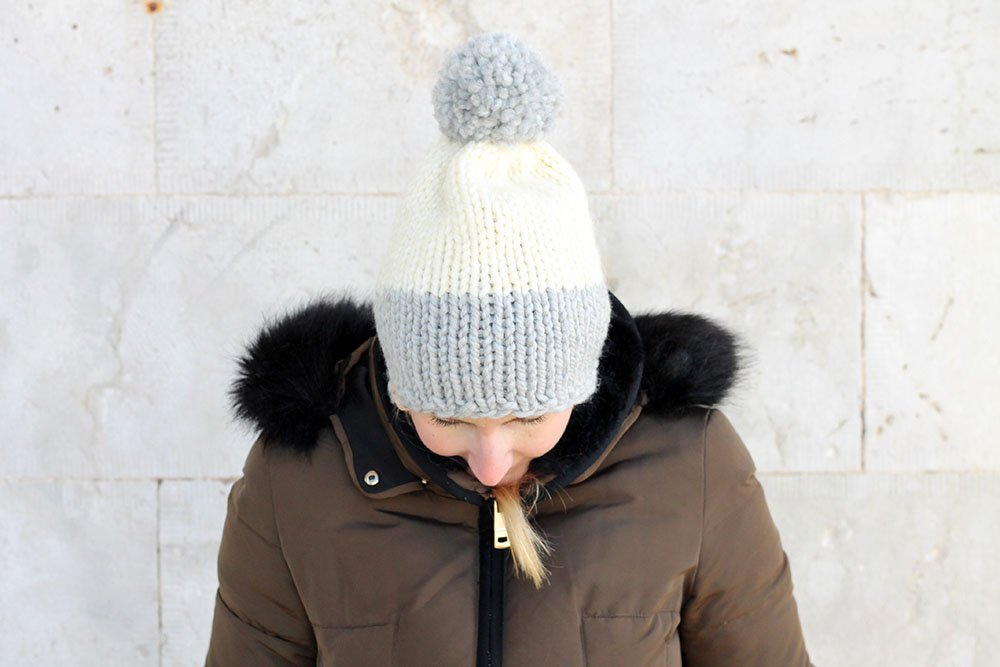 big pom pom beanie hat