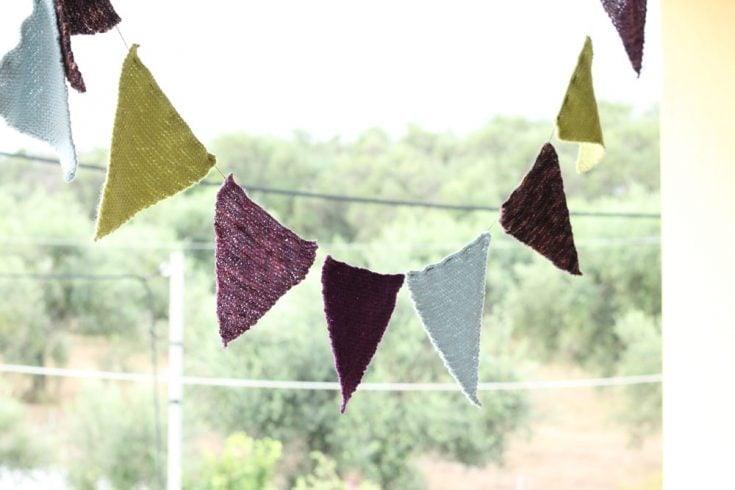 Bunting Free Knitting Pattern