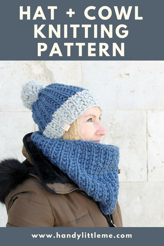 The Hermione Hat And Matching Cowl Knitting Pattern