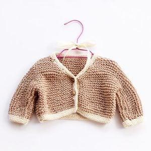 chunky baby cardigan pattern