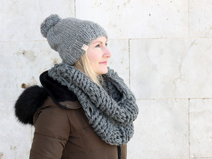 Infinity Scarf And Hat Knitting Pattern | The Hera | Free Knitting ...