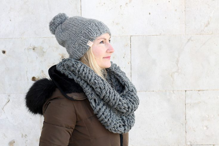 The Hera Infinity Scarf And Hat Knitting Pattern