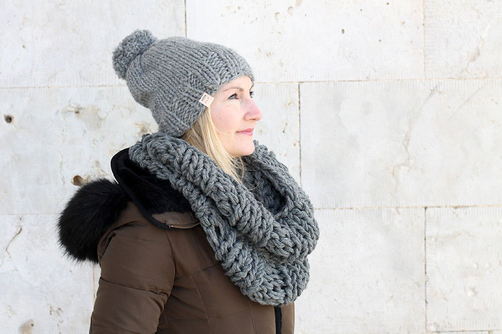 Infinity Scarf And Hat Knitting Pattern The Hera Free Knitting