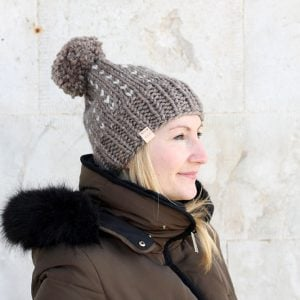 chunky womens bobble hat free pattern