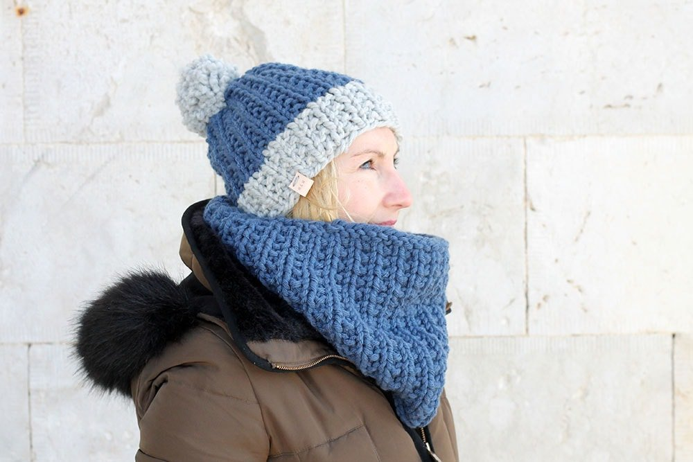 Cowl Knitting Pattern And Hat