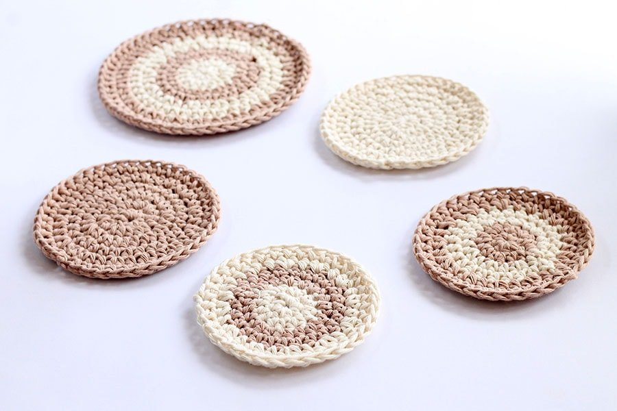 crochet coasters circle pattern