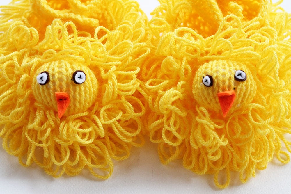easter chick knitting pattern