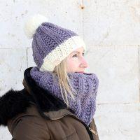 The Elisavet Hat + Cowl Knitting Pattern PDF Download | Handy Little Me