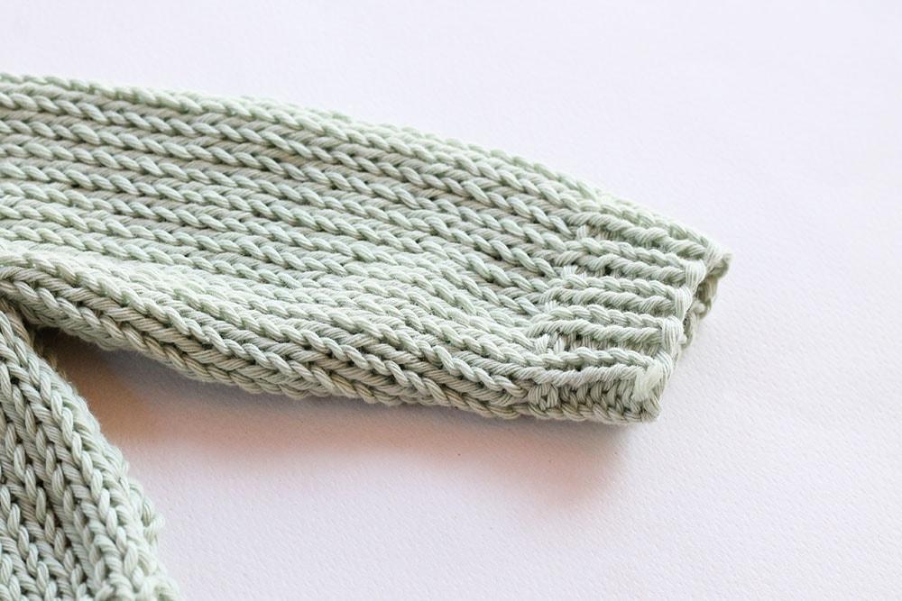 easy knit baby cardigan