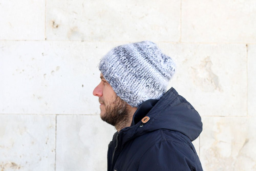 easy knit beanie hat pattern
