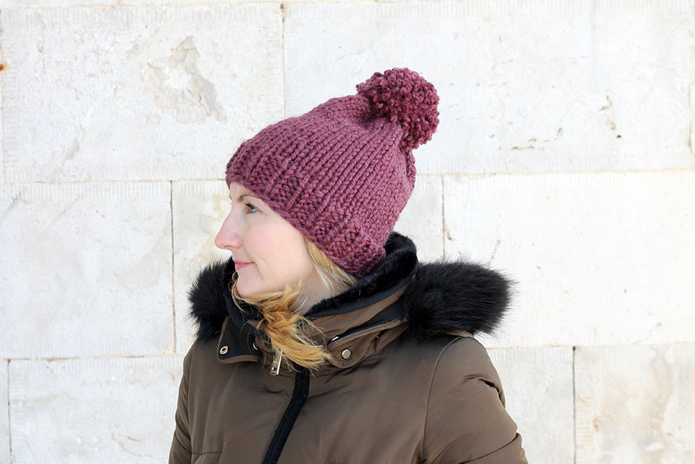 easy knit slouch beanie