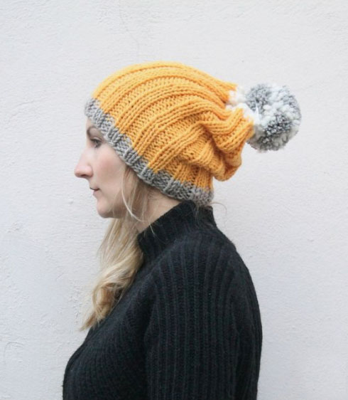 Easy Slouchy Beanie Free Knitting Pattern Free Knitting Patterns