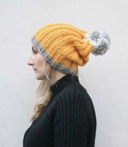 The Slouchy Beanie Hat Knitting Pattern PDF Download | Handy Little Me