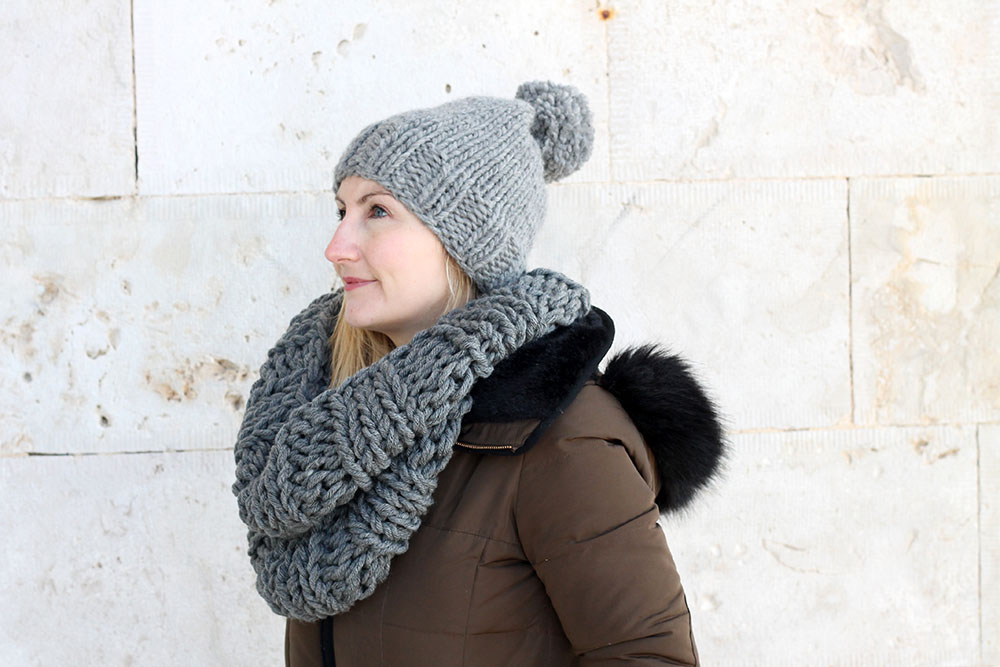 hat and cowl pattern set